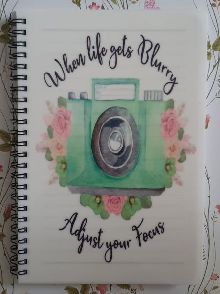 When Life Gets Blurry,  Adjust Your Focus A5 Lined Notepad